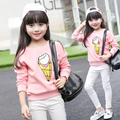 2017 Spring Kids Clothes Children Clothing Shool Girl Blouse Princess Long Sleeve Sweatshirt Cute Print Child Shirt Age 3-15T