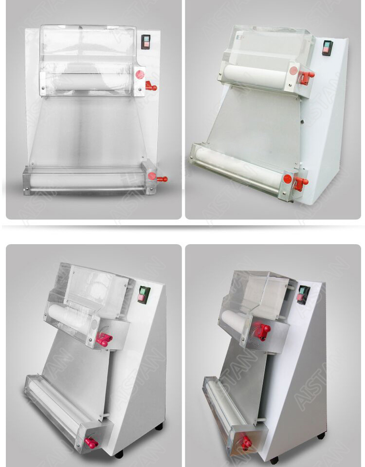 DR1V/DR1V-FP electric counter top stainless steel pizza dough roller machine pizza making machine dough sheeter 6