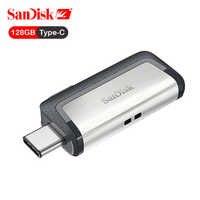 SanDisk USB Flash Drive Ultra Dual USB3.1 Drive USB Type-C Disk Pen Drive Stick 150M/s 64GB 128GB 256GB for Smartphone OTG