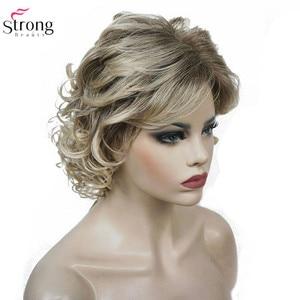 Image 5 - StrongBeauty frauen Synthetische Perücken Natürliche Lockige Perücke Medium Schwarz/Blonde Haarteil Haar Perücke