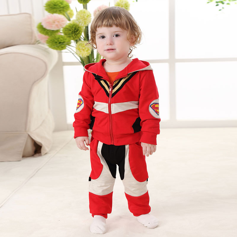 2017 Cotton Superman Baby Boys Jacket and Pants 2pcs Clothes Set for 1 2 Years Old New Infant Baby Boys Clothes RBS175003 james robinson superman nightwing and flamebird vol 2