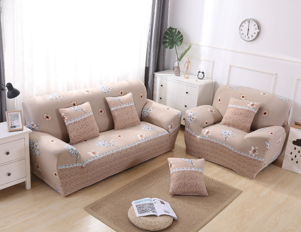 SMAVIA New Arrival All-inclusive Sofa Cover Elasticity Stretch Sofa Towel Anti-skid 100%Polyester 1/2/3/4 Seat Slipcovers