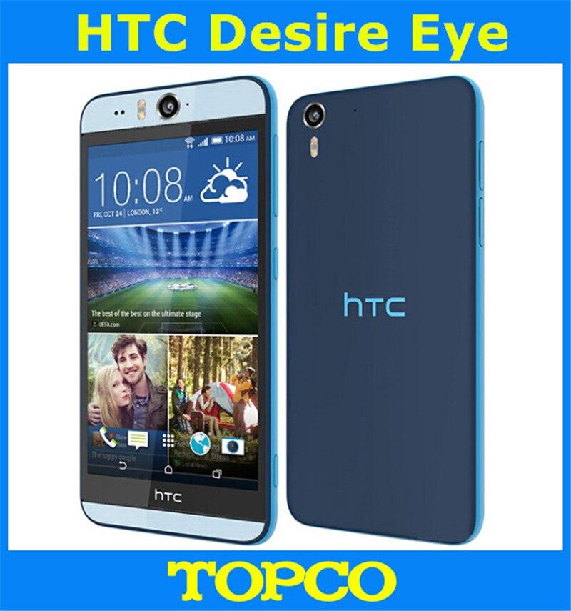 """Цена за HTC Desire Глаз Оригинальный Разблокирована Android Мобильный Телефон Quad core 5.2 """"13MP 2 ГБ RAM 3 Г и 4 Г GSM WIFI GPS дропшиппинг"""