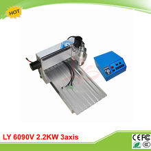 LY 6090V 2.2KW 3 axis mini CNC carving machine lathe VFD controller for 3D metal milling work duty free to RU