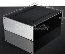 Douk Audio Aluminum Chassis Power Amplifier Case DIY Box Combined Enclosure W260*H90*D311mm