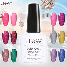 Elite99 10ml Bling Neon Color Nail Gel Polish Soak Off UV LED Colorful Varnish 1pcs Semi Permanent Gelpolish Paiting Nail Art