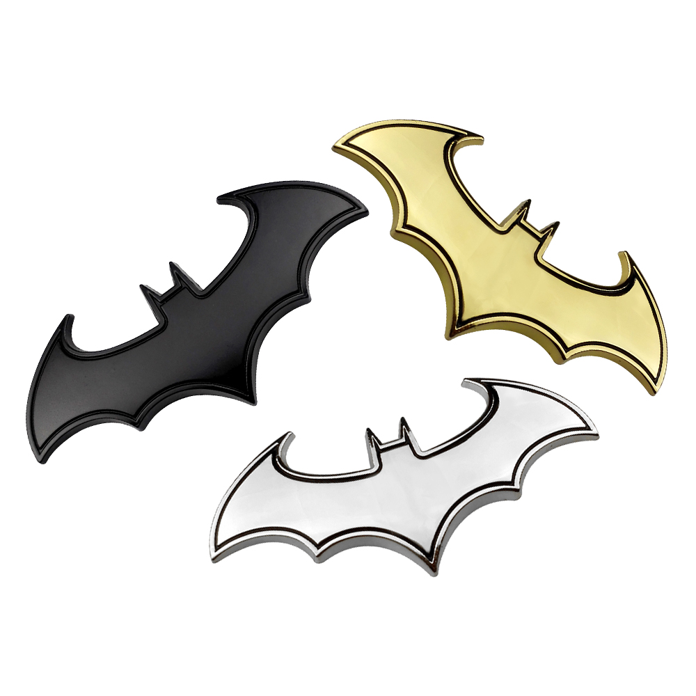 Bat 3D Metal Motorcycle Auto Car Logo Sticker Emblem Badge Tail Decal For BMW Honda Mercedes Volkswagen Audi Toyota Ford Renault