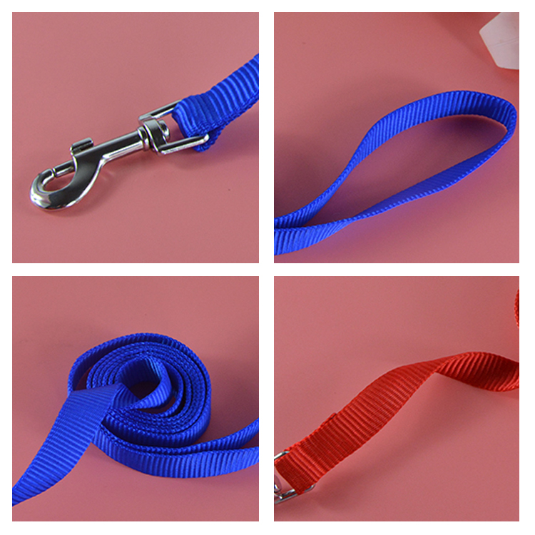 (10Pieces/Lot) Hot Sale 120 cm Length Nylon Dog Pet Leash Lead Solid Color Puppy Dog Lead for Daily Walking