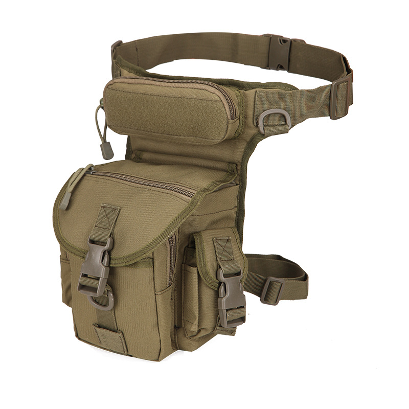 Tactical First Aid Kits Thigh Leg Bag With Water Bottle Pouch Nylon Waist Pack Outdoor Military Hunting Climbing Sport Bags
