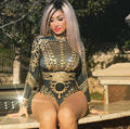 Sexy Sparkly beyoncé Bodysuit das Mulheres Mangas Compridas Rhinestone Aniversário Celebrar Roupa Boate Cantor Traje Desgaste Collant