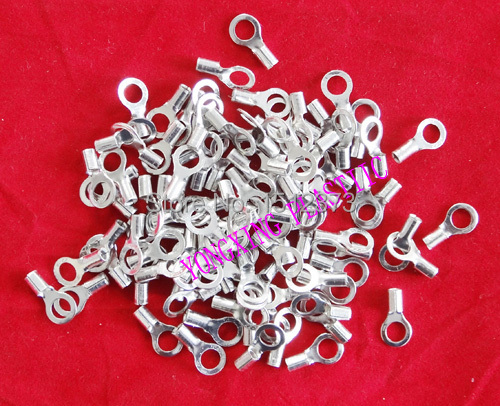 100 piece/lot RNB5.5-6 6.4 Naked ring terminal 12-10AWG cable connector lk rnb