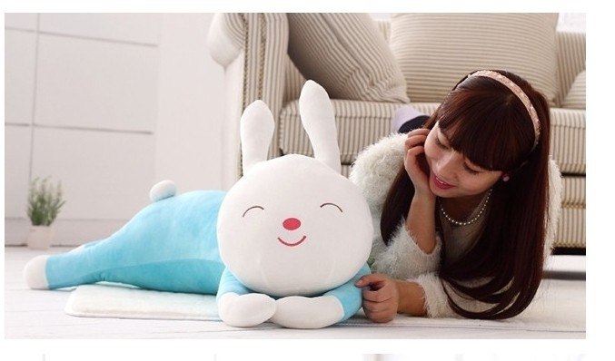 Здесь можно купить  The lovey blue rabbit  plush toy rabbit doll huge smile rabbit pillow birthday gift about 130cm  Игрушки и Хобби