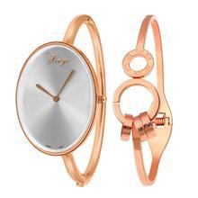 XINGE Women's Watch Women Gold Rhinestone Bangle Watch And Bracelet Set Precise time Fashion Wristwatch Top Gift JY12