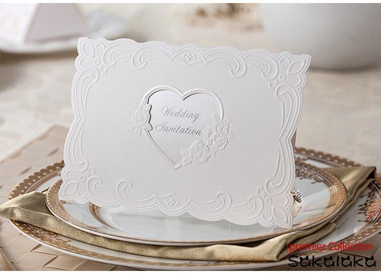 Hot Elegant Artistic Paper Wedding Invitations Card Striking Laser Cut Unique Pea Design