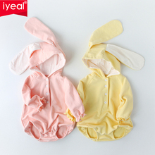 IYEAL Lovely Baby Boys Girls Clothes with Cartoon Hooded Ears Long Sleeves Bodysuit Kids Newborn Toddler Outfits