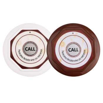 433.92 無線呼び出しシステム 1 個音声レポートレシーバホスト + 10 個のコールボタンレストランポケットベルケータリング機器 f3360