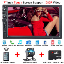 "Posteriore della Macchina Fotografica di Bluetooth Multimediale Centrale 2Din 2 Din 7 ""Radio di Tocco di MP5 Music Video Player Multimediale per Auto Specchio Link autoradio"