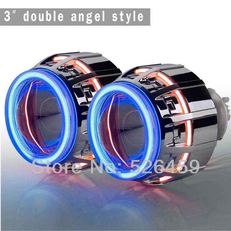 Russia specifically small ket socket bi xenon projector Lens H1 H7 H4 9005 9006 9007 3inch 35w double angel hid projector kit кабели переходники и розетки для авто carrefine hid amp ket ket
