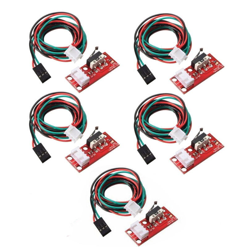 5 Pcs/Set Brand New 300V/2A Mechanical EndStop Limit Switch With 70CM Cable For 3D Printer RAMPS 1.4 Dropshipping image
