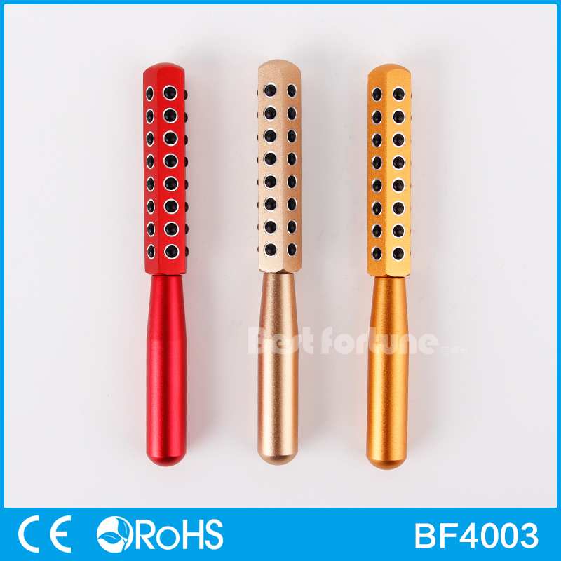 ФОТО 40pcs Germanium Stone Face Massage Roller Wand Facial Care Beauty Bar BF4003