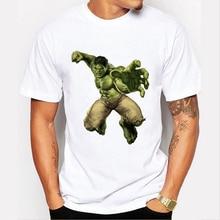 Fashion Hulk T shirts Men s Avengers Superman spiderman Hulk Short Sleeve Boy Brand Design Tops