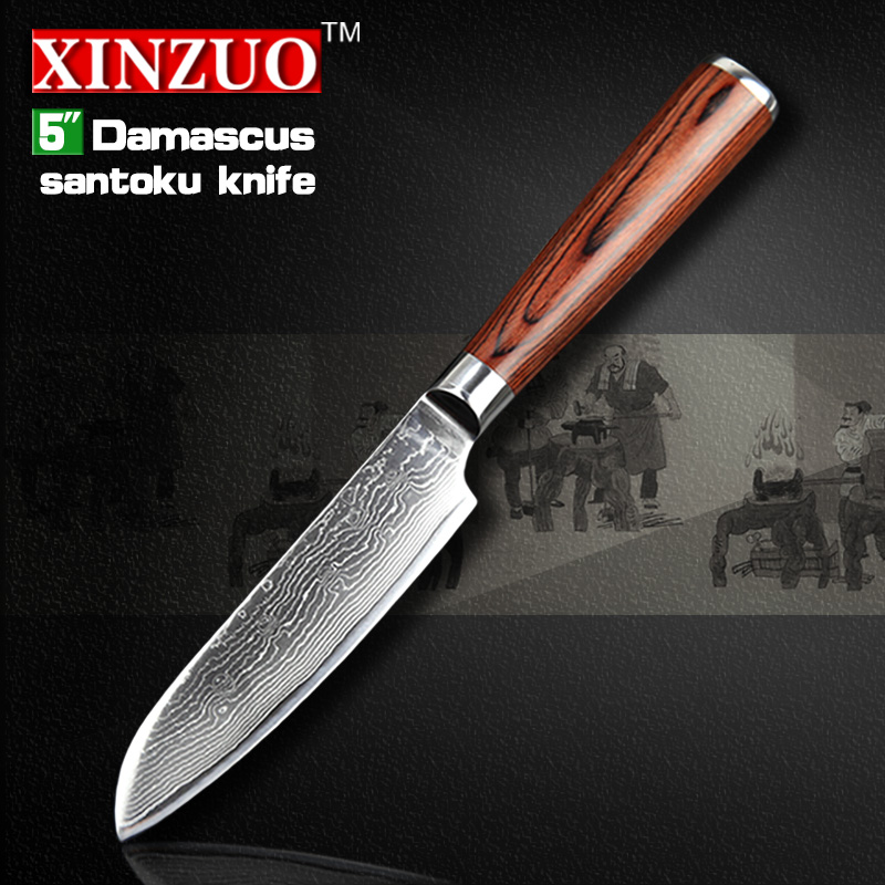 2016 HOT 5 santoku font b knives b font Japanese VG10 Damascus steel chef font b