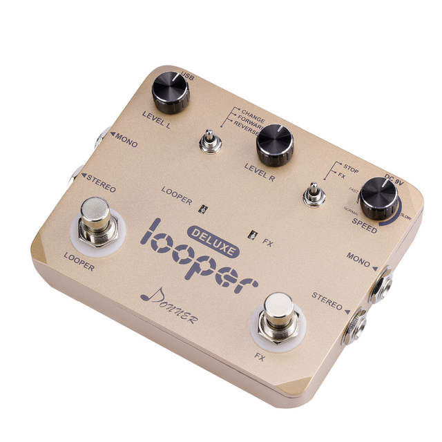 US $61 5 18% OFF|Donner Deluxe Looper Guitar Effect Pedal 10 Minutes  Looping Unlimited Delay Overdubs Loop Station Twin Pedal Guitar  Accessories-in