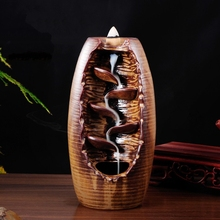 Incense burner tower incense cone smoke ceramic buddhist supplies religious free shipping