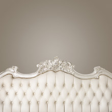 baroque bed headboard tufted bed photography backdrop thin vinyl photo studio background wallpaper F-2523(China)