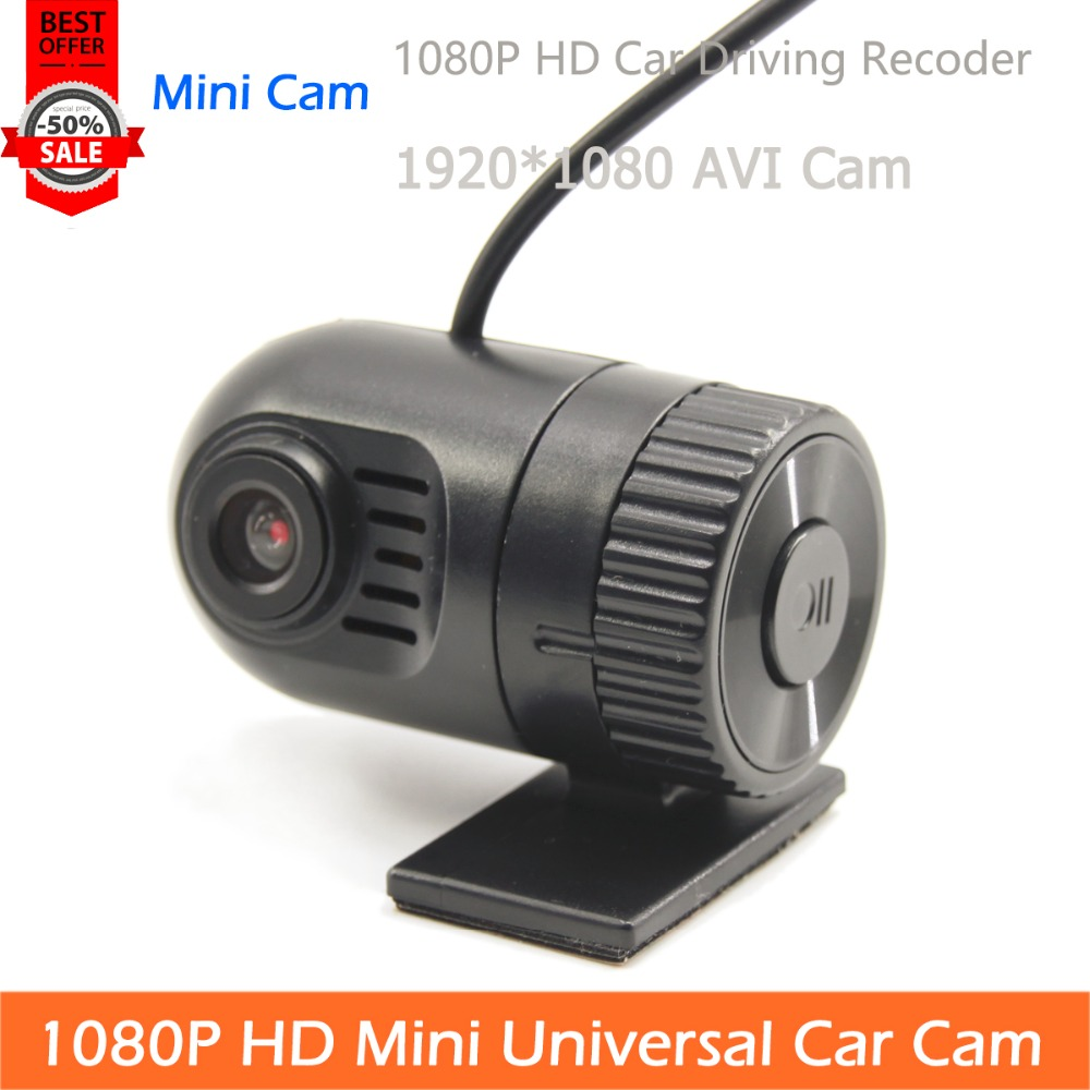 Free Shipping 1080P Mini Type HD Universal Car Cam TF Card AVI Video Output Recoder Max 32G