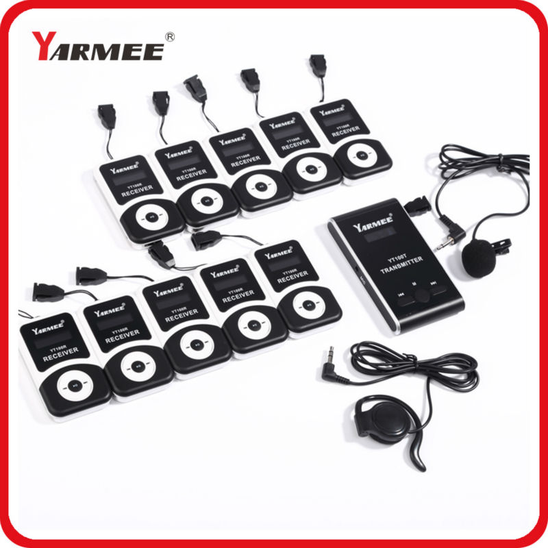 VHF wireless radio broadcast transmitter for sale 60 receivers wireless indoor simultaneous interpreting system YT100
