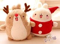 Năm mới quà tặng cho trẻ em 1 pc 35 cm dễ thương nhỏ thân mến nai sừng tấm Giáng sinh khoai tây Rabbit Plush Doll mới lạ lãng mạn cô gái đồ chơi nhồi