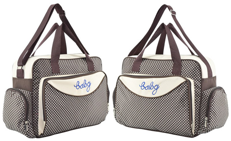 MOTOHOOD Baby Diaper Bag Organizer Baby Care Carriage Bag For Stroller Fashion Dot Multifunction Baby Bags For Mom 451530cm (11)