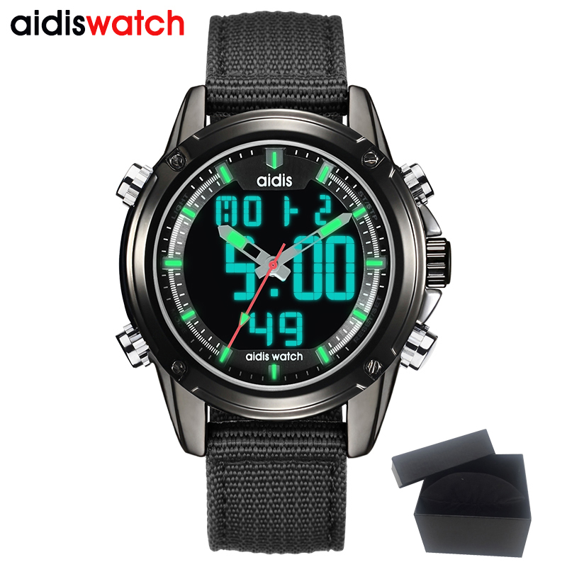 AIDIS Top Brand Sport Digital Watch Men Wrist Led digital Nylon Band Male Wristwatch Waterproof Relogio Masculino Hodinky criancas relogio 2017 colorful boys girls students digital lcd wrist watch boys girls electronic digital wrist sport watch 2 2