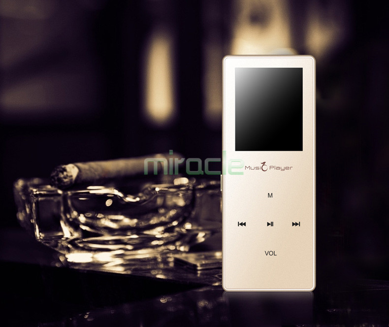Ultrathin Touch button HIFI Lossless Sound Bluetooth mp3 Music Player 1 8 inch FM Voice recording