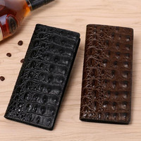 Men's wallet High quality male purse with real embossed crocodile skin long purse men business special offer Big purse hand 06tb