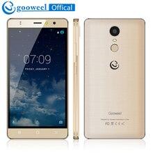 Оригинальный Gooweel M17 4 г мобильного телефона отпечатков пальцев ID mtk6737 Quad Core 64bit 5.5 дюйма IPS Android 6.0 смартфон 16 ГБ 8MP GPS ячейки