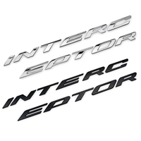 For Crown Victoria Interceptor Car Head Sticker 3D INTERCEPTOR Emblem Decal Modified Accessories Fashion Decoration