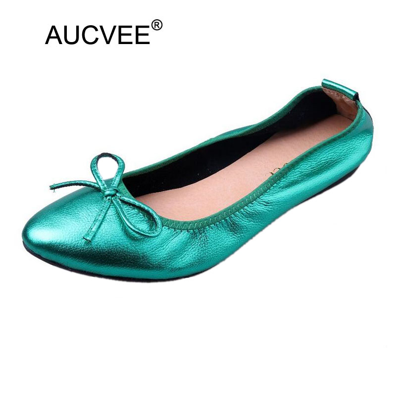 AUCVEE Classic Brand Shoes Women Casual Pointed Toe Loafer Black Ballerina Shoes for Women Flats Comfortable Slip on Women Shoes odetina 2017 new women pointed metal toe loafers women ballerina flats black ladies slip on flats plus size spring casual shoes