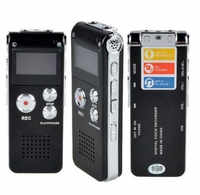 Rechargeable 8GB Digital Audio Voice Recorder Dictaphone Telephone MP3 Player ET recorder player