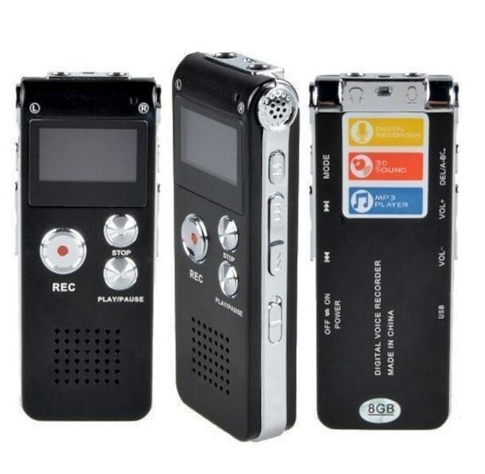 Wiederaufladbare 8GB Digital Audio Voice <font><b>Recorder</b></font> Diktiergerät Telefon <font><b>MP3</b></font> <font><b>Player</b></font> ET <font><b>recorder</b></font> <font><b>player</b></font> image
