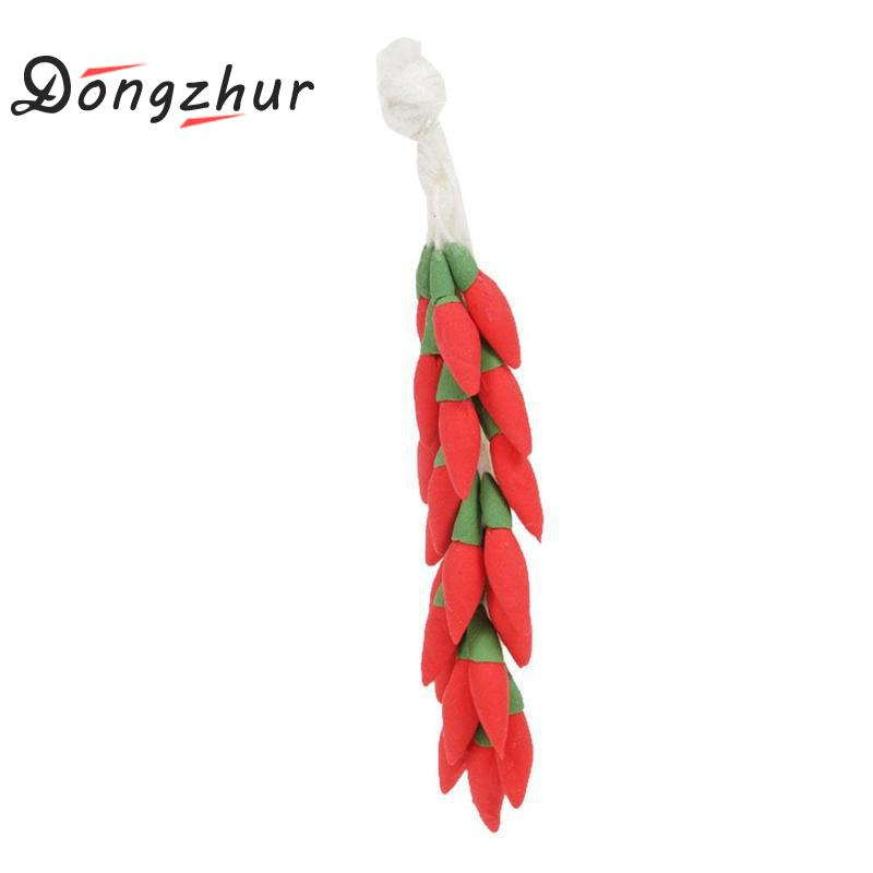 Dongzhur Miniature Dollhouse Pimiento Furniture Mini Model Clay Hand Pepper String Doll House Miniatures 1:12 Accessories Beneficial To Essential Medulla Doll Houses