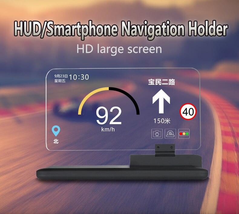 Image 2 - GEYIREN Car Smartphone Projector Car GPS Navigator Mount Stand HUD Head Up Display Holder Phone Holders-in Head-up Display from Automobiles & Motorcycles