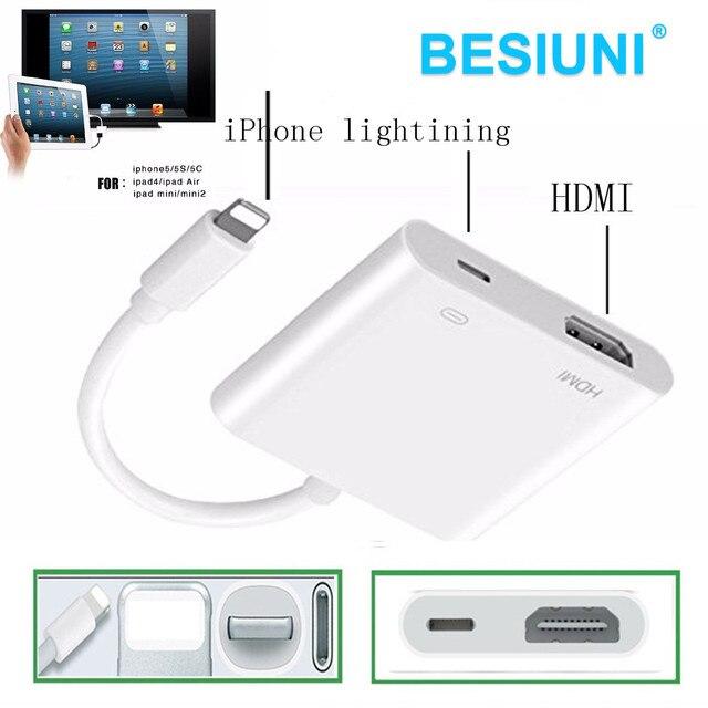 3f34f794a86 Iluminação para HDMI/HDTV TV Digital Cabo Adaptador para Apple iPhone 5 5S  6 6