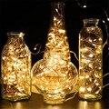 5 м 50 светодио дный Фея гирлянда лампа светодио дный строка огни CR2032 на батарейках на Рождество Свадьба День Рождения вечерние праздничные украшения - фото