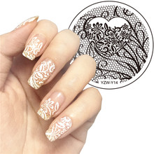 1Pc YZWLE Fashion Gorgeous Nail Art Print Stamping Plates Good Quality Nail Polish Template Manicure Stencil DIY Styling Tools(China)