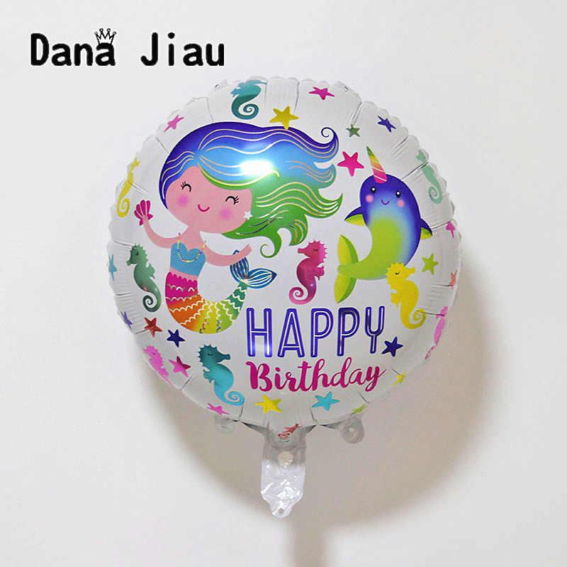 Dauphin bleu poisson feuille Ballons océan animal hélium Ballons sirène fête d'anniversaire mariage décor Air Baloons événement boule fournitures