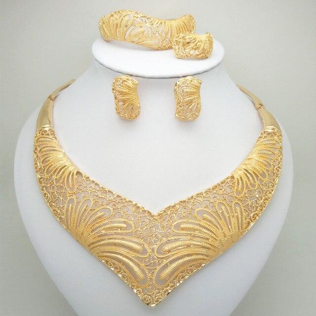סיטונאי אופנה תכשיטי חרוזים אפריקאים סט ניגריה דובאי זהב תכשיטי הודו מעוקב Zirconia כלה תכשיטי סטים