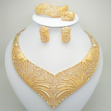 Wholesale Fashion African Beads Jewelry Set Nigeria Dubai Gold India Cubic Zirconia Bridal Sets