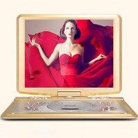 Мобильный dvd плеер 20 дюймов ультра тонкий дисплей высокого разрешения встроенный Батарея портативной игровой EVD, MPEG4, VCD, CD, DVD RW, CD R/RW